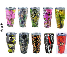 News 30oz Camouflage Camo Rambler Tumbler 30oz Cups Cooler Stainless Steel Tumbler Cups Car Vehicle Beer Mugs Vacuum Insulated
