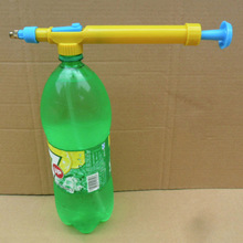 Mini Toy Guns Juice Bottles Interface Plastic Trolley Gun Sprayer Head Water Pressure Outdoor Fun Sports