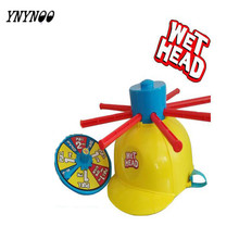 YNYNOO Wet Head Hat Water Game Challenge Wet Jokes & toy funny Roulette Game toys Gags & Practical Jokes Funny Toy Trcik People