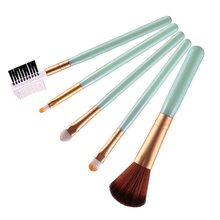 2016 New Product 5X Makeup Brushes Set Blush Eye Shadow Lip Eyebrow Brush Cosmetic Beauty Tool 9R6T(China)