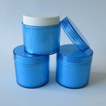 24 x 100g Blue plastic cream jar with double wall 100ml plastic jar cosmetic container,cosmetic packaging