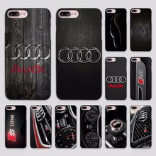 Cool Audi car 01 (2) design hard black Case Cover for Apple iPhone 7 6 6s Plus SE 5 5s 5c 4 4s