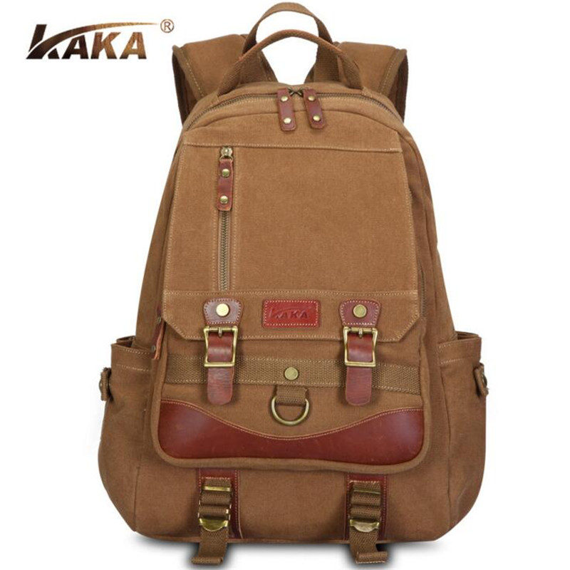 KAKA Hot Sale High Quality Canvas Men Women Backpack Casual School Bag Brand Laptop Bagpack New Vintage Travel Rucksack A174<br><br>Aliexpress