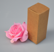 Essential Oil Bottle Lipstick Cosmetic Brown Kraft Paper Boxes For Perfume Nail Polish Gift Party Packaging Box
