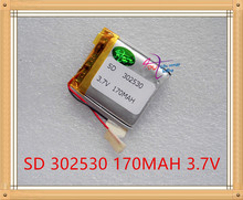 Liter energy battery 3.7V lithium polymer battery 302530 170MAH Meizu MP4 MP3 Bluetooth headset