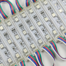 20pcs LED 5050 3 LED Module 12V waterproof RGB Color changeable led modules lighting for backlight sign(China)