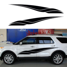 2 X Sharp Spear Courageous Advance The Art of Living Happy Striped Car Sticker for SUV Trailer Truck Door Vinyl Decal 10 Colors