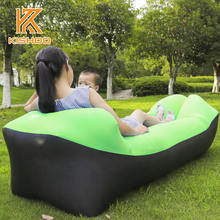 210T nylon ripstop Inflatable Camping Sofa banana Sleeping Bag Hangout lazy laybag Air Bed Sofa chair Couch Lounger