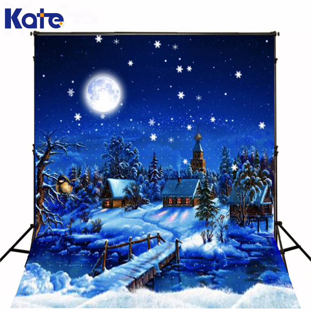 2M*1.5M(6.5Ft*5Ft) Photo Studio Floor Magic Cartoon Lonely Christmas Backgroundszz S-187<br>
