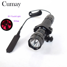 Hunting Flashlight 5W 850nm Aluminum Flashl Light IR 850nm lanterna Infrared Night Vision LED Torch + Mount Pressure Switch(China)