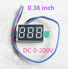 mini dc voltmeter 0.36 inch 0-200V 3 wires 3 bits Red lcd digital Panel Meter Voltage tester for Motorcycle car  39%off