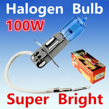2pcs H3 100W 12V Halogen Bulb Super Xenon White Fog Lights High Power Car Headlight Lamp Car Light Source 6000K parking