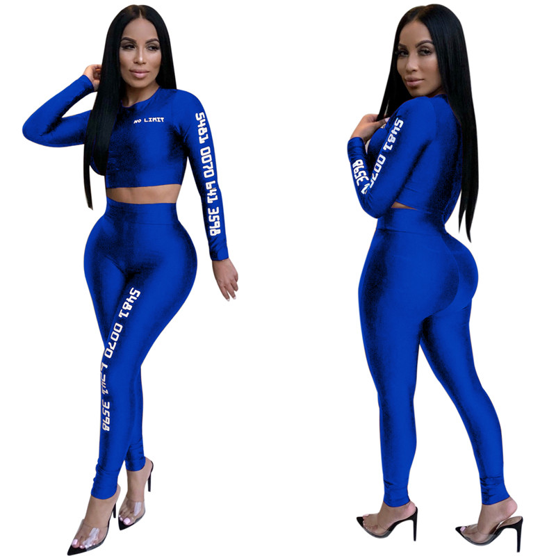12 European and American sexy letter offset printing set sexy sequined jumpsuit fashion suit Bodysuit Female Evening Night Club Wear10