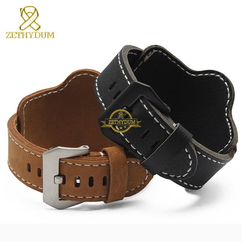 Fashion Genuine leather bracelet  watch strap mens watchband wristwatches band Nubuck 22mm 24mm watchbands wristband accessories<br><br>Aliexpress
