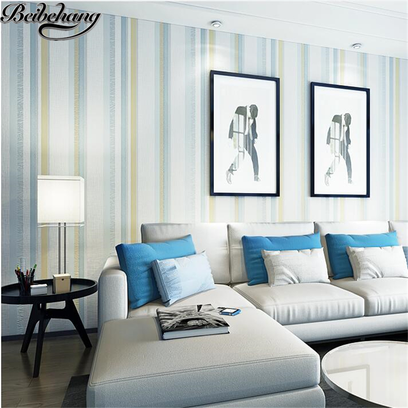 beibehang wallpaper Modern Simple Sprinkler Striped Nonwoven Wallpaper Living Room Bedroom Wall Restaurant Walkway Wallpaper<br>