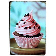 CUPCAKE Vintage sign Metal Cake Plague Tin Poster Wall Decor for bakery shop party display holiday Christmas gift SPM16 20x30cm(China)