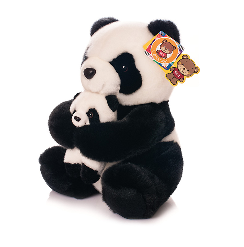 11/28CM Panda Plush Toys Cute Mother And Son Panda Stuffed Toys Dolls Best Kids Toys Birthday/Christmas Gifts Free Shipping <br>