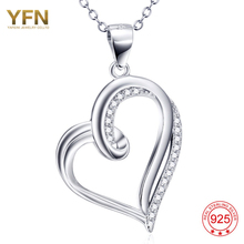 YFN 925 Sterling Silver Jewelry Heart Shaped In CZ Necklace Pendant Crystal Women's Necklace Buy Three Make 10% Discount GNX9937