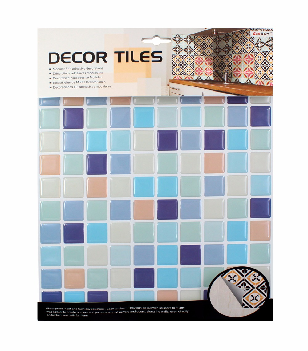 Kitchen bathroom special 3D wallpaper mosaic waterproof Size 10*10 ...