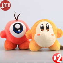 New 2pcs Super Mario Kirby Adventure All Star Waddle Dee Waddle Doo 5.5'' Anime Toys Soft Plush Baby Doll Kids Gifts