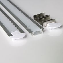 15m(30pcs) a lot, 0.5m per piece, led aluminum profile for led strip AP2206D-0.5M with press clear cover or milky diffuse cover
