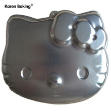 1PCS Aluminum Hello Kitty Ahape Cake Pan Baking Cake Mold A049(China)