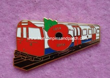 Custom poppy badge,  train badge, flower badge, imtiation hard enamel