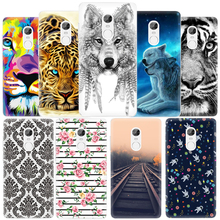 Luxury Painted Cover Phone Case for Xiaomi Redmi Note 4 3 2 3S 3X 3 Pro Soft TPU Cartoon Tiger Wolf Patterned Fundas Shell
