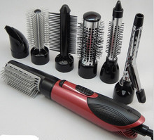 7in1 110v-240v power Multifunctional styling tools hair sticks hair dryer machine comb hairdressing tool Hair Roller
