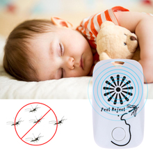 Ultrasonic Electronic Mosquito Repeller Baby Outdoor Pest Bug Mosquito Repellent Killer Powered by CR2025 Cell Battery