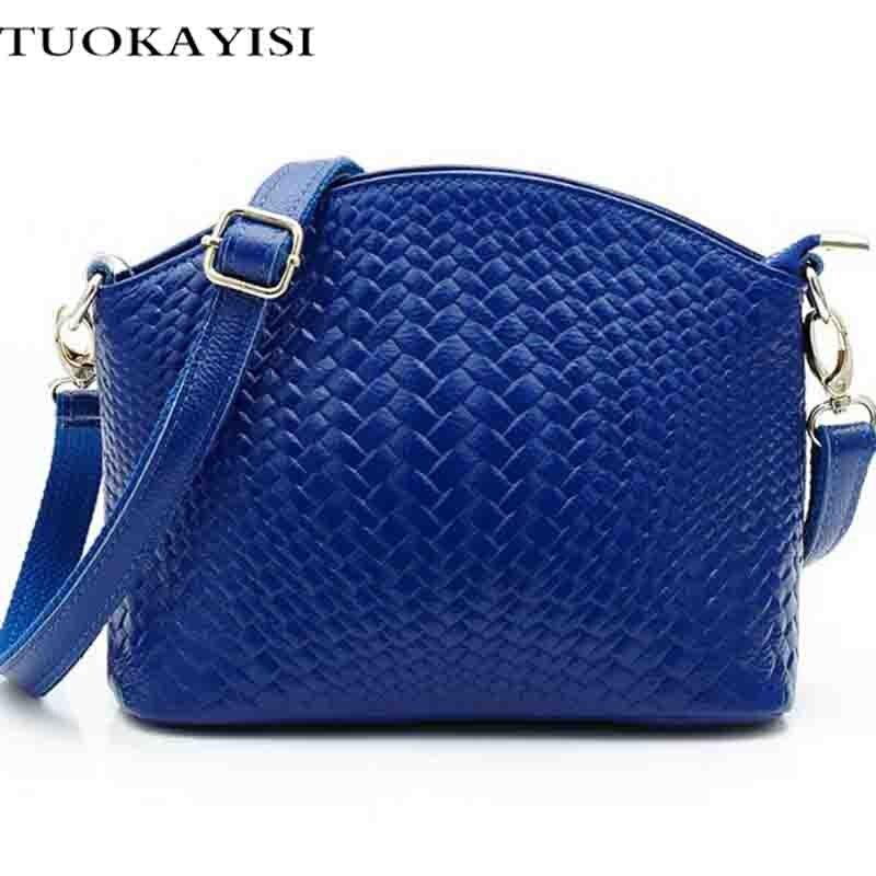 small shoulder bag female crossbody messenger Bag 2017 Designers Fashion mini soft cow leather shoulder bag women handbags blue<br>