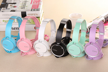 Candy Color Headphone Children Boy and Girl Headphones Wired Headband Headset Child Earphones For Kids Cute Beautiful Headphones(China)