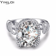 Fashion Stainless Steel Crystal Ring Female Titanium Wedding Ring for women  NIBA Store RDD029