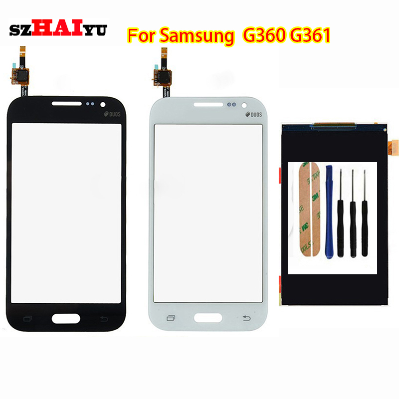 Free Shipping Test Original LCD Touch Panel for Samsung Galaxy Core Prime G360 G361 Display Touch Screen Digitizer Panel<br><br>Aliexpress