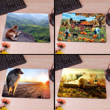 A Dog and a Beautiful Landscape Computer Mouse Pad Mousepads Radiation  Non-Skid Rubber Pad