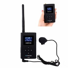 NIORFNIO Handheld 0.3W FM Transmitter MP3 Broadcast Radio Transmitter for Car Meeting Tour guide system Y4409A(China)