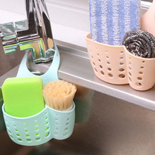Adjustable Creative Folding Hanging Plastic Bathroom Kitchen Gadget Storage Box Silicone Storage Bag Kitchen Sink Shelving Bags