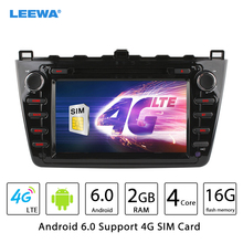 "8"" Android 6.0 (64bit) DDR3 2G/16G/4G LTE Car DVD GPS Radio Head Unit For Mazda6 (GJ;2008~2012) #CA4526"