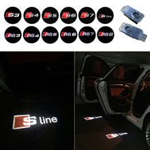 LED Car Door Welcome Light Laser Shadow logo Projection For Audi a1 A3 A4 b6 b7 b8 A5 A6 c7 c5 A7 A8 R8 Q5 Q7 rs TT Sline q3