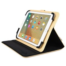 For Apple iPad 2 / 3 / 4, Air / 2 Tablet Travel Portfolio Case w/ Hand & Shoulder Straps in Begie