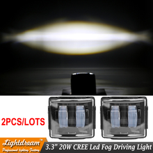 Square led fog driving lights 2016 New Hot Car Fog Lamp White Light 12V 24V Led work lights IP67 with DT connector lamps x2pcs