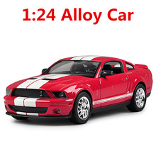 1: 24 alloy car, high simulation car model mustang FT500, metal diecasts,freewheeling, the children's toy vehicles,free shipping