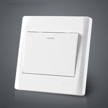 Free Shipping Quality 1 Way Dual Control Wall Light Switch Controller Socket 10A Pure White Touch Switcher For Bedroom Stairs