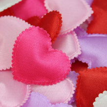 100x Pink / Red / Purple / White / Rose Heart Artificial Flower Silk Flower Petals Wedding Flowers Wedding Bed Party Decorations