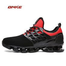 2017 ONKE Brand Classic Sports Running Outdoor Walking Mix Color Lace Up Blade Bottom Footwear Track and Field Light Breathable