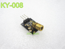 new 1pcs KY-008 650nm Laser sensor Module 6mm 5V 5mW Red Laser Dot Diode Copper Head