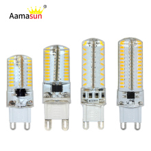 High Quality G9 LED Lamparas G9 SMD3014 Sillcone Led Corn Bulbs Chandelier Spot light AC 220V-240V 64 104 Leds 5pcs/lot()
