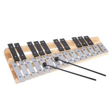 New 25 Note Glockenspiel Educational Musical Instrument Percussion Gift with Carrying Bag(China)