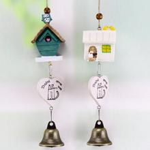 Cute small house Wind Chimes Chimes Japanese Style Pendant Creative Car Hanging Decoration Home Decoration F2-15L