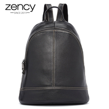 5 Colors Zency Brand Top Selling Women Backpack Preppy Style Travel School Bag For Teenager Girls 100% Genuine Leather Soft Skin(China)
